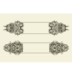 Baroque floral frames set vector