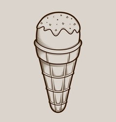 Detailed graphic ice cream vector image