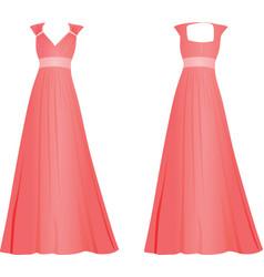 pink women elegant dress vector image