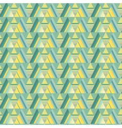 Seamless triangle background vector image