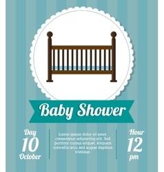 Cradle of baby shower card design vector image