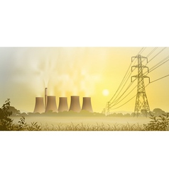 Electricity Plant vector image vector image
