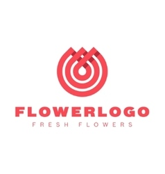 Flower love quality flat trend brand icon vector image vector image