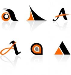 logo elements vector image vector image