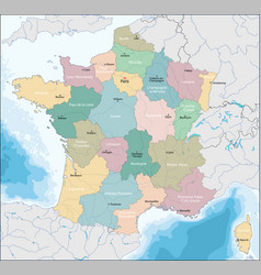 map of french republic vector image