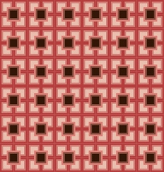 Pink square pattern background vector image