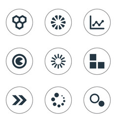 set of simple diagram icons vector image vector image
