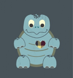 valentine turtle vector image vector image