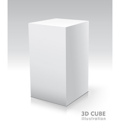 cube white icon template for your design vector image vector image