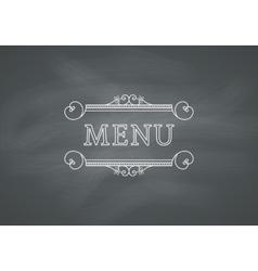 Restaurant Menu Headline with Chalkboard vector image