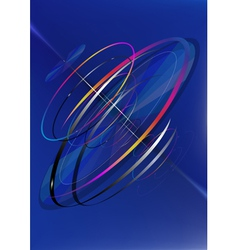 The moving bright circles by spiral vector image vector image