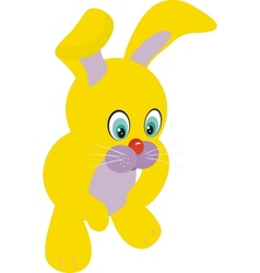 young rabbit sitting in front of white background vector image vector image