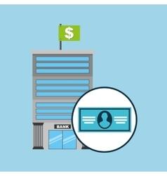 bank concept service bill dollar vector image