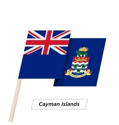 Cayman Islands Ribbon Waving Flag Isolated on vector image vector image