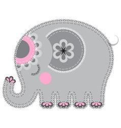 Fabric animal cutout Elephant vector image vector image
