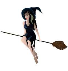 image on white background a young witch is vector image