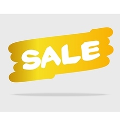 White sale on yellow brush style stain vector image vector image