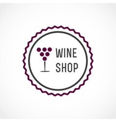 Wine shop vector image vector image