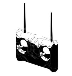3d model of radio remote control on a white vector image