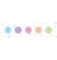 5 direction icons vector