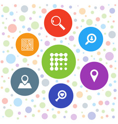7 search icons vector image