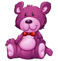 A lavender teddy bear vector