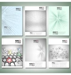 Abstract 3D hexagonal backgrounds Brochure flyer vector