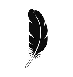 african feather icon simple style vector image
