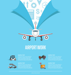 airport work poster for commercial airline vector image