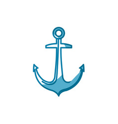Anchor marine symbol vector