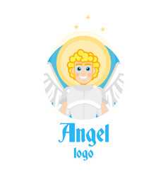 angel logo vector image