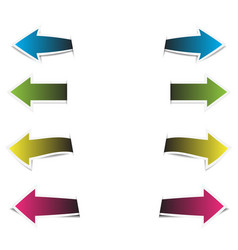 arrow colorful paper on white background vector image