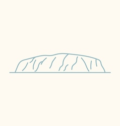 Ayers rock vector