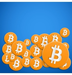 Background of financial currency Bitcoin vector image