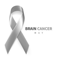 brain cancer awareness month realistic grey vector image
