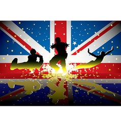 British flag sports figures vector