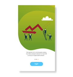business people holding curved line arrow vector image