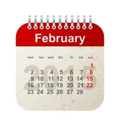 Calendar 2015 - february vector