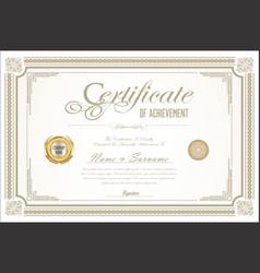 Certificate retro design template 09 vector