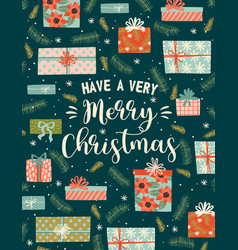 Christmas and happy new year trendy vector