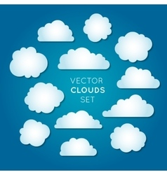 Clouds set 2 vector