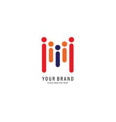 community symbol logo vector image