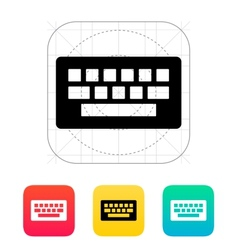 Computer keyboard icon vector