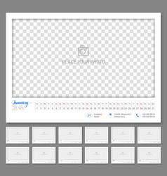 Convenient wall calendar 2018 monthly flat vector