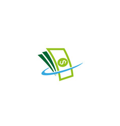 Creative abstract money cash logo design symbol vector