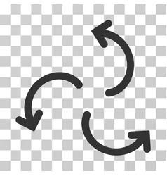 Cyclone arrows icon vector