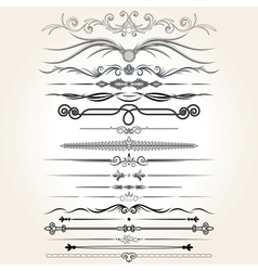 Decorative Rule Lines Design Elements vector