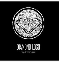 Diamond grunge logo 2 vector