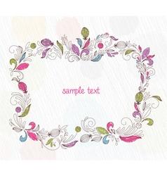 Doodles floral frame vector