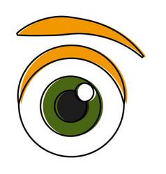 eye cartoon isolated vector image